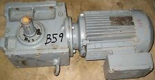 SEW EURO DRIVE , # S60DT100L-4 , 3.7 KW  , (NO GEAR TAG) USED