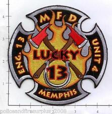 Tennessee - Memphis Engine 13 Unit 4 TN Fire Dept Patch
