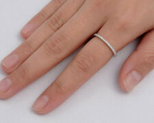 Silver Thin Band Ring with Clear CZ Sterling Silver 925 Best Deal Jewelry Size 5