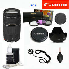 Canon EF 75-300mm f/4.0-5.6 III Lens + ACCESSORY KIT FOR CANON EOS REBEL 80D T5I