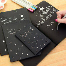 Blank Sketch Book Black Paper A6 Diary for Drawing Painting Graffiti Sketchbooks