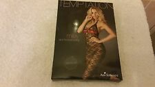 Ann Summers Miley Black & Red  Lace Body stocking Size Medium 12 - 14 NWT Boxed
