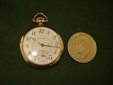 VINTAGE 1925 WALTHAM 17 JEWEL OPEN FACE POCKET WATCH, GOOD WORKING CONDITION