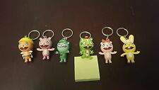 RARE Set of (6) Happy Tree Friends Keychains + UNWATCHED Season 1 Complete Set