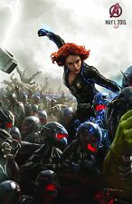 Avengers 2 Age of Ultron (2015) Movie Poster (24x36) - Black Widow Comic Con v1