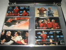 STAR TREK GENERATIONS complete base trading cards + partial chase FOIL Spectra !