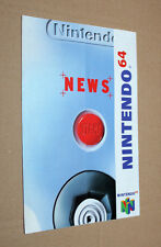 Nintendo 64 news club publicidad ad Flyer Promo Super Mario Kart World Blast Corps