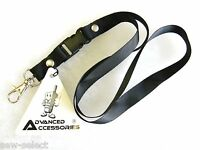 Black neck lanyard Mobile phone Id card badge key strap mp3 office security pass