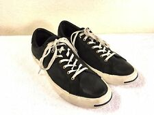 Converse Jack Purcell black leather sneaker shoes size men's 7.5 and womens 9