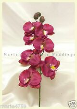 ARTIFICIAL SILK FLOWERS ORCHID LARGE MAGENTA/DEEP PINK - Home Decor - Weddings