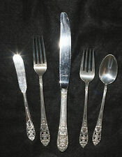 "FIVE PIECE FINE ARTS STERLING PLACE SETTING ""CROWN PRINCESS""   LOT 261020"