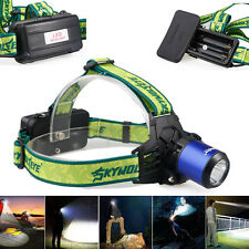 High Power 6000LM 3modes CREE T6 LED Blue Headlamp Headlight Rechargeable F519