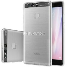 Clear Ultra Slim Gel Case and Glass Screen Protector for Huawei P9 Plus