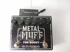 ELECTRO HARMONIX METAL MUFF WITH TOP BOOST DISTORTION EFFECTS PEDAL PLEASE READ