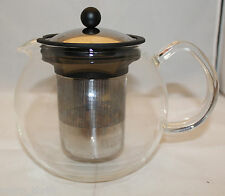 Bodum Assam Glass Teapot Tea Press Stainless Steel Strainer Lid 4 Cups 1.0 Liter