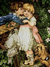 """Gobelin Tapestry Needlepoint Kit """"Sweet Love"""" hand embroidery printed canvas 272"""