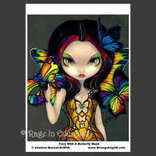*FAIRY WITH A BUTTERFLY MASK* Goth Art A4 Photo Print By Jasmine Becket-Griffith