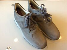 HOGAN MEN'S SHOES SUEDE TRAINERS SNEAKERS INTERACTIVE ALLACCIATA GREY SIZE 9.5
