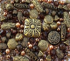 Approx x 250 Bronze Black Jewellery Making Beads Mix - Sold as Seen!