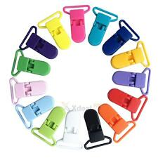 XD#3 10PCS Plastic Pacifier Clips Soother Dummy Bib Suspender Paci Toy Holder