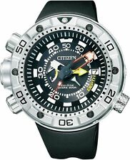 Citizen Mens Promaster Aqualand. Steel Solar Watch. Marine Sports. BN2021-03E
