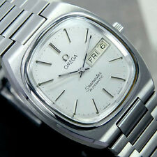 VINTAGE MEN'S OMEGA SEAMASTER AUTOMATIC DAY & DATE ANALOG DRESS WATCH ST STEEL