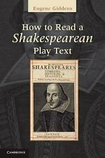 How to Read a Shakespearean Play Text, , Very Good condition, Book