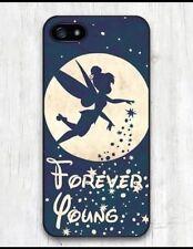 """Disney Tinkerbell """"Forever Young"""" cita Estuche de plástico para iPhone 5 o 5s BN. Navidad"""