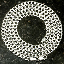 "Curb 100-30"" 4mm Heavy 15.5 Gram Italian Link .925 Sterling Silver Chain 30"""