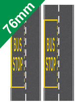76mm Road System Bus Stop on to suit OO gauge Hornby Self Adhesive Vinyl