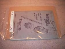 1956-57 TRIUMPH TIGER CUB REPLACEMENT PARTS CATALOG USED F0625