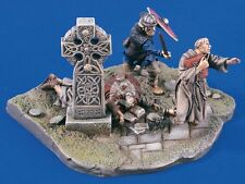 "Verlinden 54mm (1/32) ""Viking Raid"" Vignette with Base (3 Figures) [Resin] 1633"