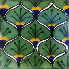 90 Mexican Tiles Talavera Ceramic Handmade Mexico #C056