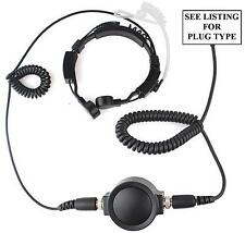 MOTOROLA HEAVY DUTY THROAT MIC & COVERT EARPIECE FOR CP040 GP300 DP1400 ETC