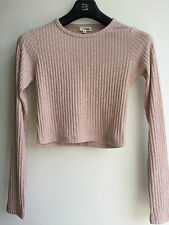 Wilfred Free Aritzia Georgia Tee Crop Top Pink Blush Heather Sz M