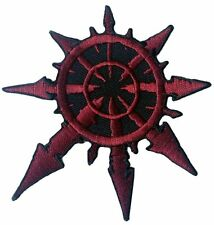 Red Chaos star of Undivided Warhammer 40,000 3.5 Inches applique Patch 3.5 Inch