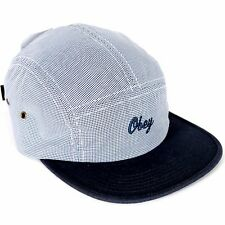 NWT OBEY TOWNSHIP 5 PANEL HAT CAP NAVY BLUE ADJUSTABLE MENS RARE