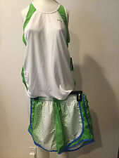 NEW Nike Dry fit  sleeveless  shirt Size LM, White, Used short Green!!! SHAWEI