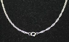 """Sterling Silver Rope Chain 16"""" long x 1.8 mm Sterling Silver Spring Ring Clasp"""