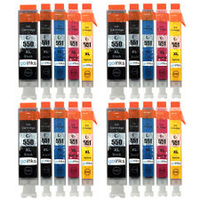 20 Ink Cartridges (Set) for Canon Pixma iP7250 iX6850 MG5550 MG6450 MX725