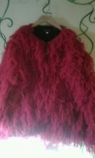 gorgeous pink shaggy hippy, festival jacket, coat by equatorial size L,