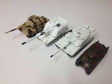 LOT DE 4 CHARS MILITAIRES 1/72 SECONDE GUERRE MONDIALE WW2-CHAR AMX LECLERC TANK