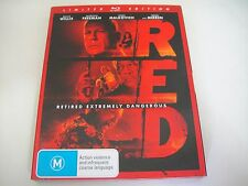 RED (2010) - JB Hi-Fi Limited Comic Book + Slipcover Blu-Ray | Like-New | Rare