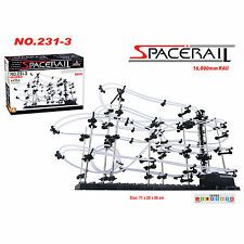 SpaceRail Level 3 16000mm Marble Roller Coaster With Steel Balls Spacewarp DIY