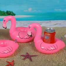 Mini Cute Red Flamingo Floating Inflatable Drink Can Holder Pool Toy Bath Buoy