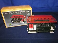 San Francisco Cable Car Music Box ~ Powell & Hyde ~ Municipal RY ~ GOOD in BOX