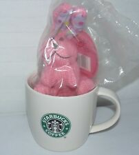 STARBUCKS 2008 NEW BONE CHINA 12 OZ HOPPER BUNNY & MUG EASTER HOLIDAY GIFT SET