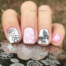 BORN PRETTY Nail Art Stamping Image Plate Stencil Butterfly Flower DIY BP-105
