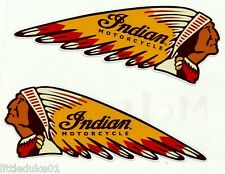 2 INDIAN MOTORCYCLE GAS GARAGE SERVICE STATION VINYL STICKER / DECAL NEW CHOPPER
