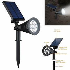 4 LED Solar Power Garden Lamp Spot Light Outdoor Lawn Landscape Path Spotlight